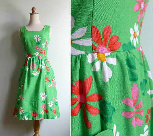 malia of honolulu kelly green cotton dress