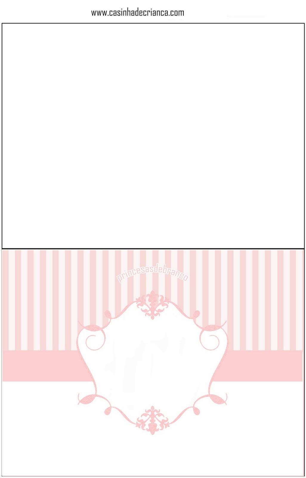 Princesas de Branco Kit Festa Casamento Rosa Para Imprimir Grátis