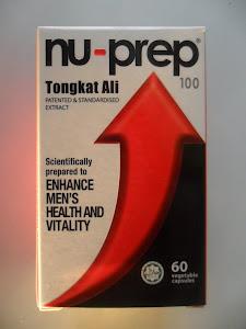 Nu-Prep 100 Adaptogen,eurycoma longifolia-Hypogonadism LOH, testosterone-Tongkat Ali