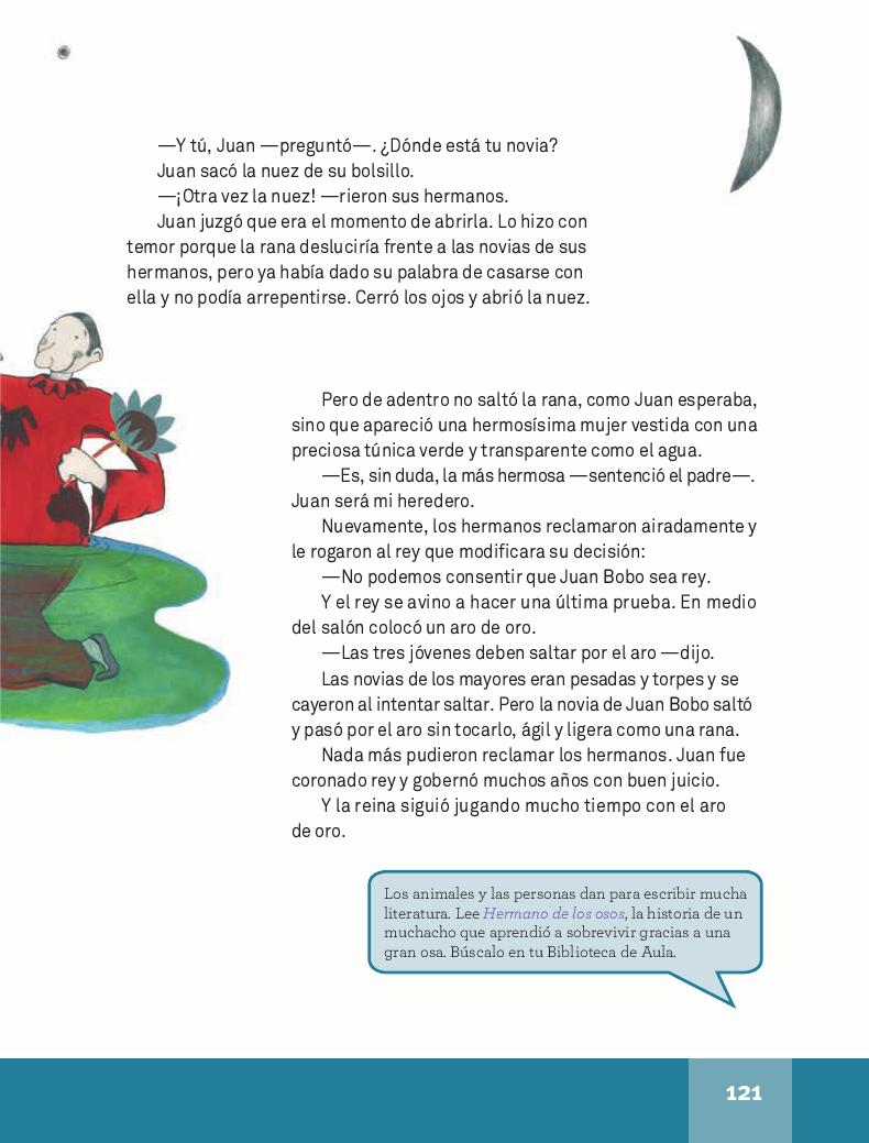 Las tres plumas o la princesa rana - Español Lecturas 4to 2014-2015