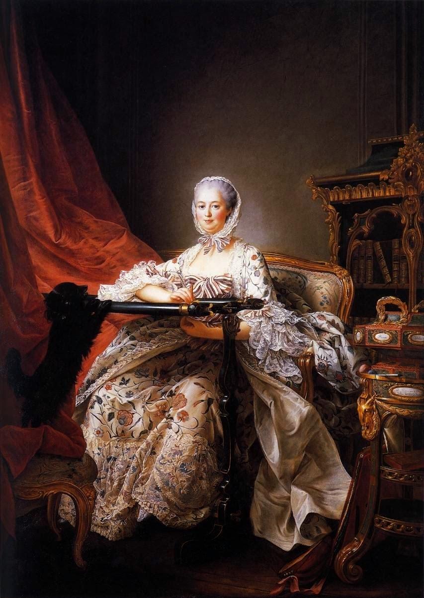 Francois-Hubert Drouais, вышивальщица картина