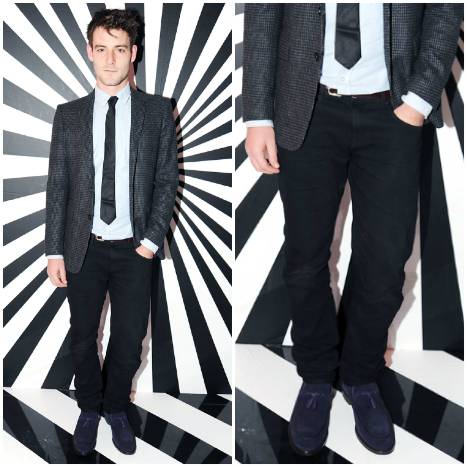 00O00 London Menswear Blog Roo Panes Jimmy Choo Rob Pruitt dinner purple Hamilton loafers