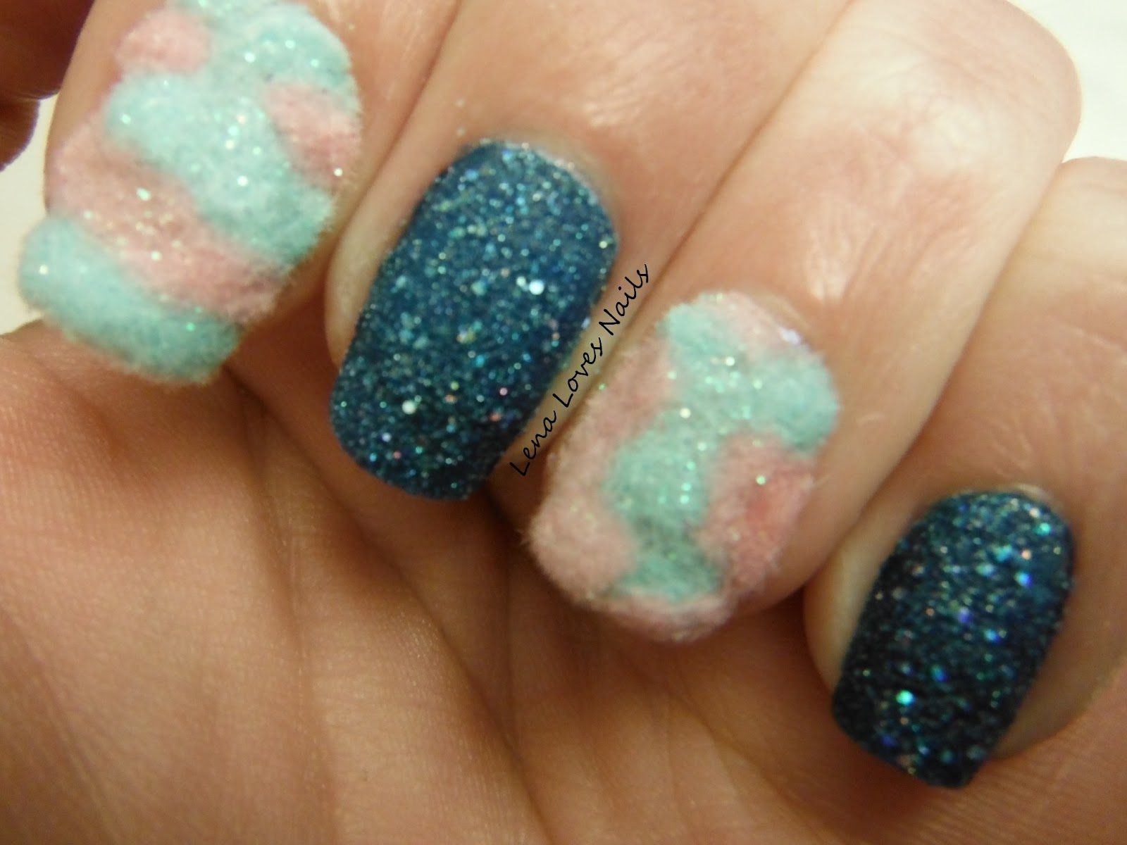 Lena Loves Nails: Cotton and Rock Candy Nails!