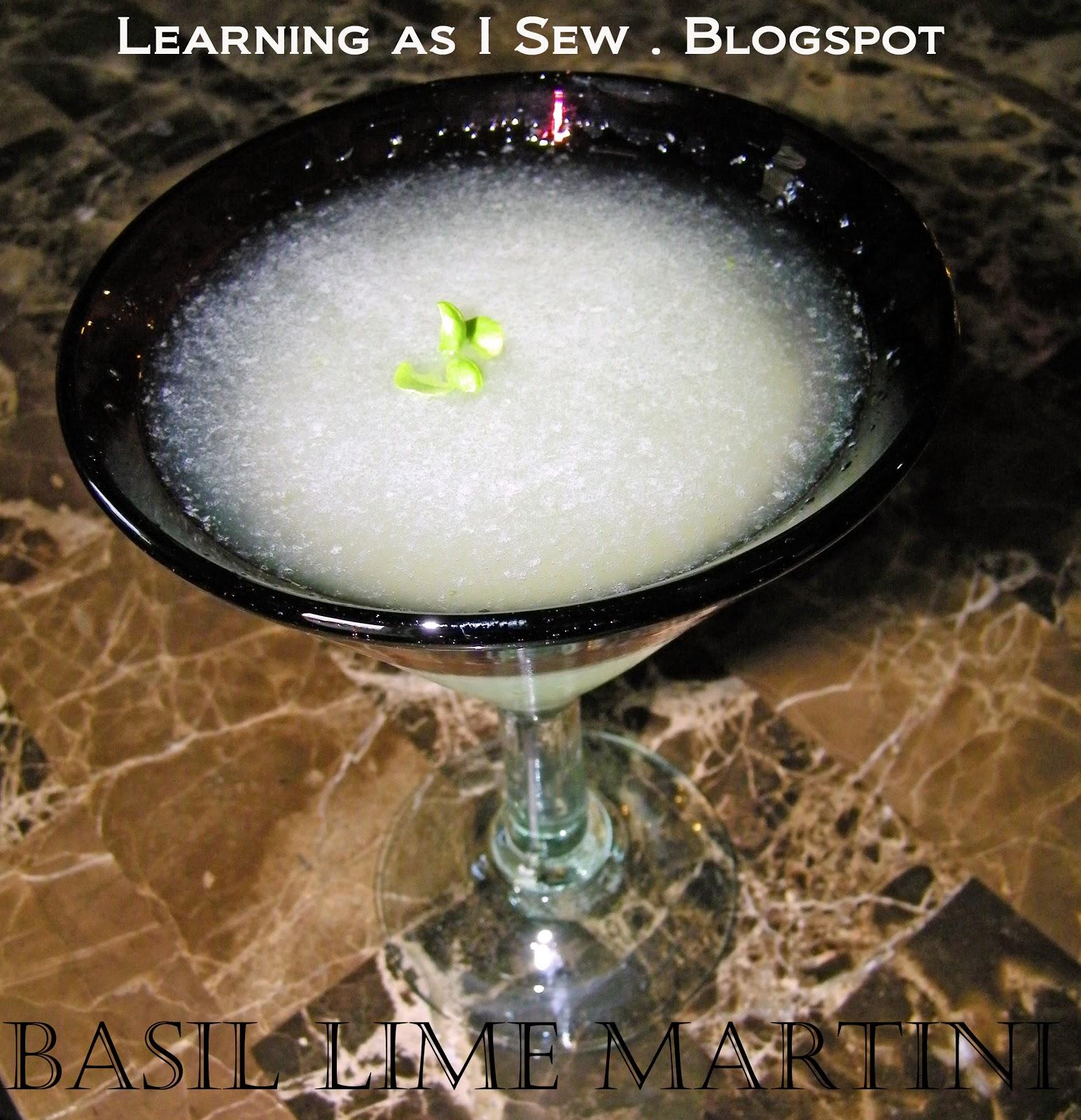 Basil-Lime Martini