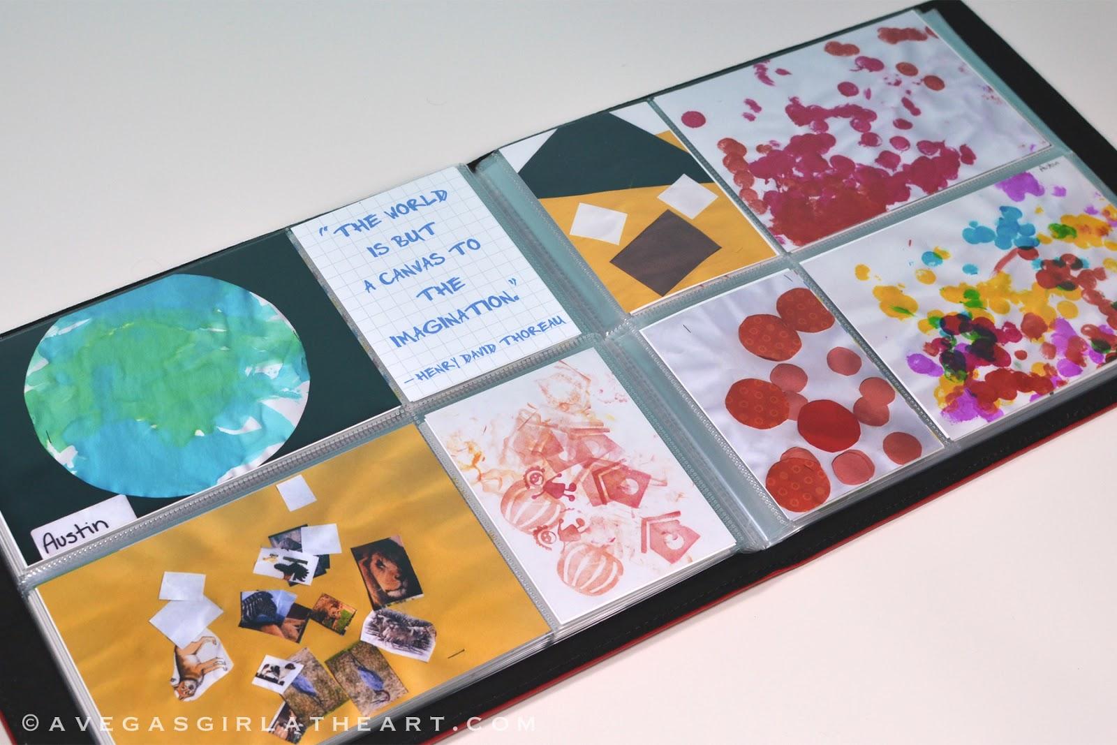 A Vegas Girl At Heart Childrens Art Scrapbookproject Life Mini Album