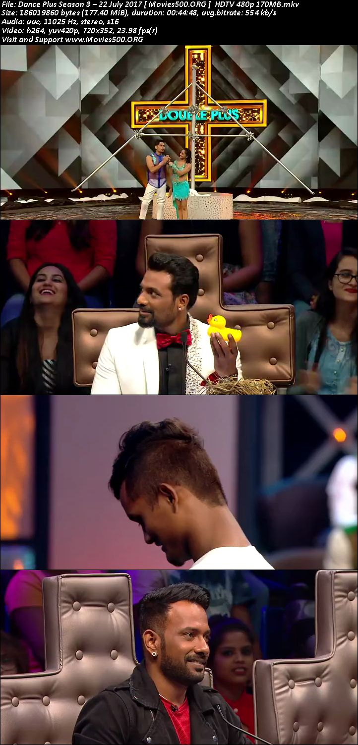 Dance Plus Season 3 2017 22 July Full Episode Download HD at xcharge.net