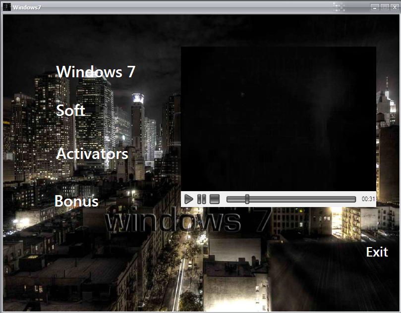 Windows 7 Ultimate Dark City 2010