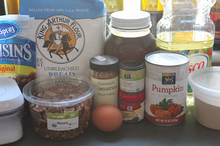 Ingredients for pumpkin-cranberry-pecan twists