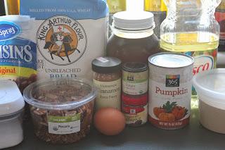 Ingredients for pumpkin-cranberry-pecan twists