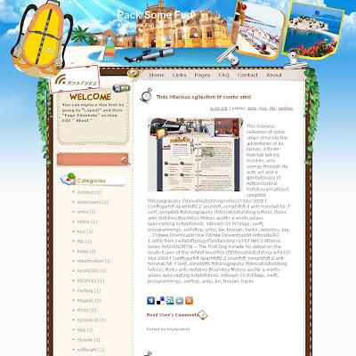 Pack Some Fun blogger template from wordpress. travel blog template. template blog from wordpress. travel blog template. template travel for blogger. travel template for blog