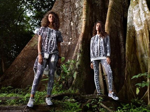 Farm e Adidas Originals terceira coleção calça leggin t-shirt blusão tênis
