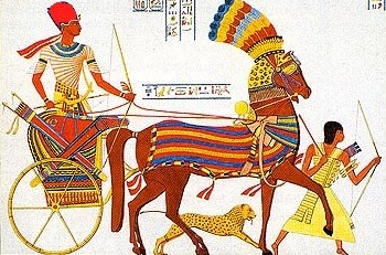 An Egyptian chariot