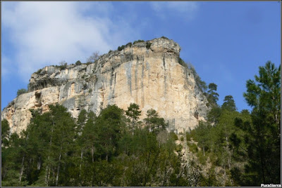 Hoz del Río Escabas en El Hosquillo (cierre del Parque). Vista desde abajo