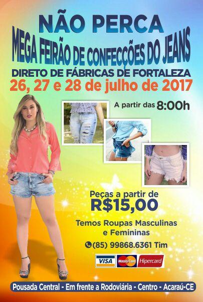 Mega Feirão de Jeans em Acaraú