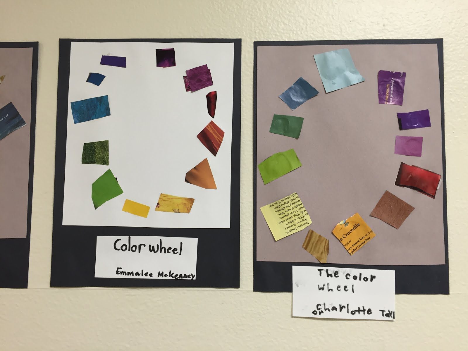 After Learning The Order Of Color Wheel And Different Types Colors Students Got Busy Working On Projects Using Those
