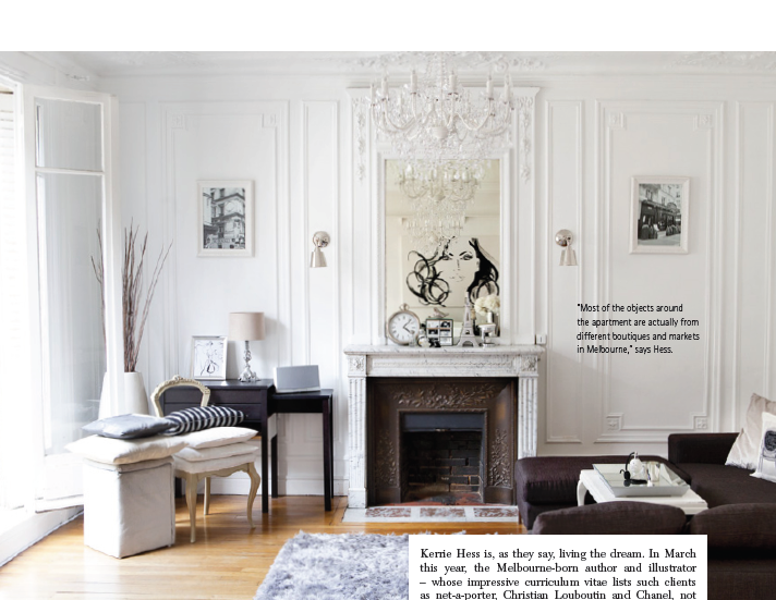 Mix and Chic: Home tour- Kerrie Hess's chic Paris apartment!