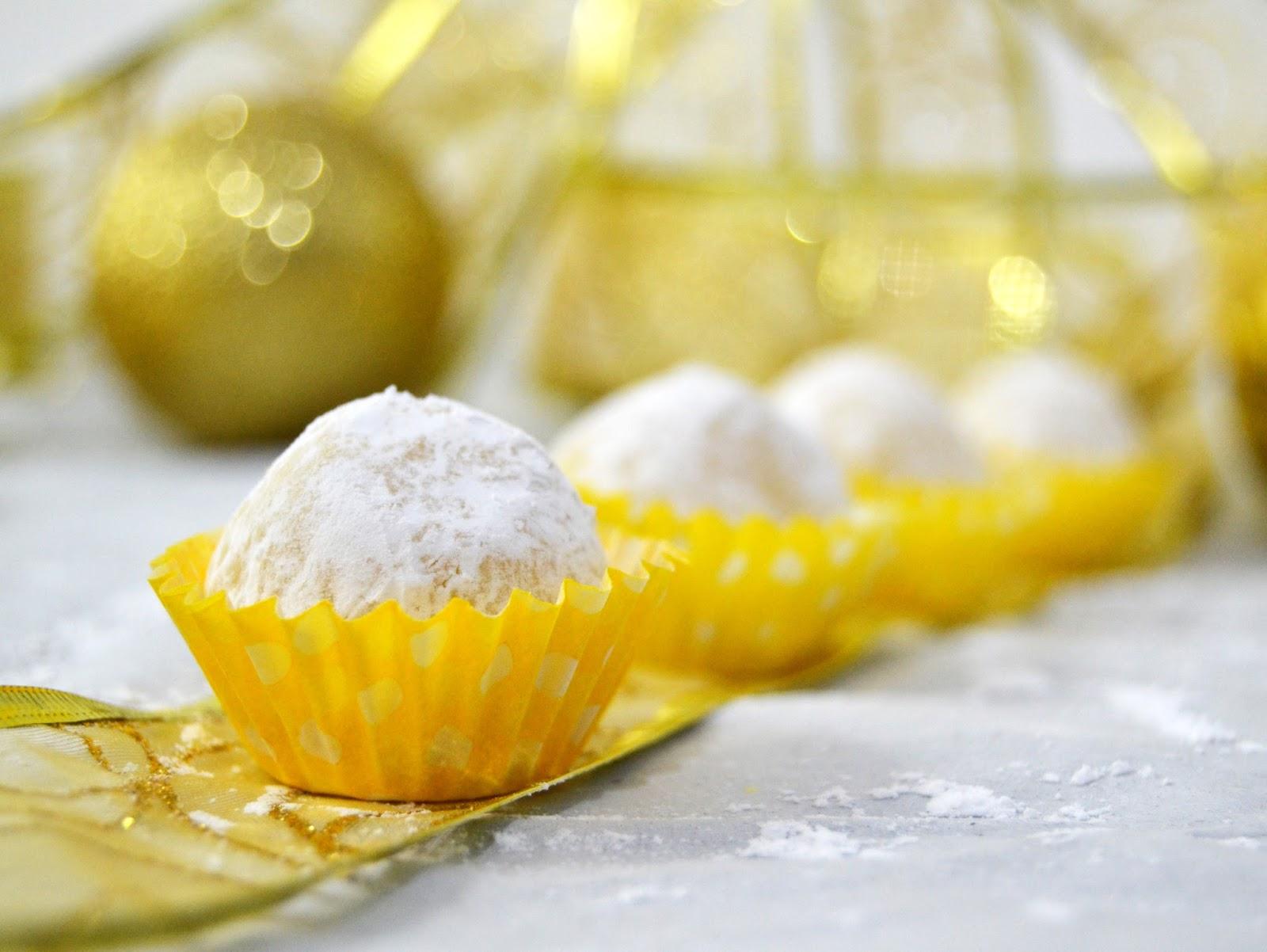 Baño Blanco De Limon:Trufas de chocolate blanco y limón