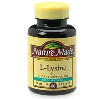 L Lysine Nature Made Walgreens
