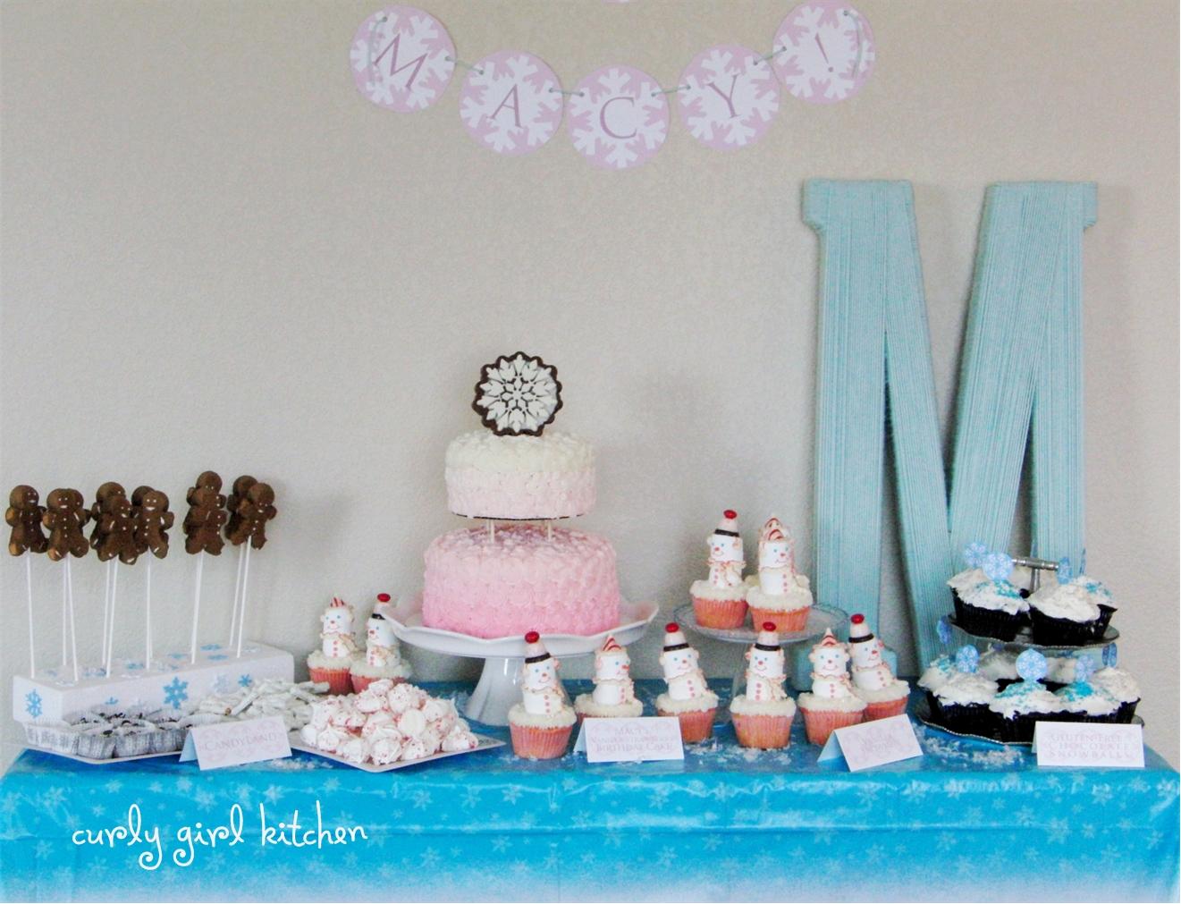 Curly Girl Kitchen: a Winter Wonderland Birthday Party