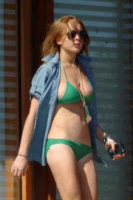 lohan bikini