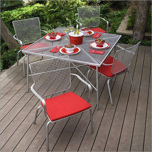 steel patio furniture dining table photos