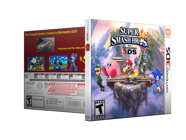 Capa Super Smash Bros 3DS