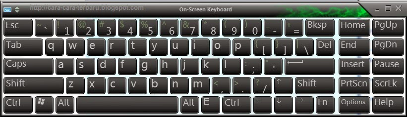 on-screen keyboard, tutorial komputer