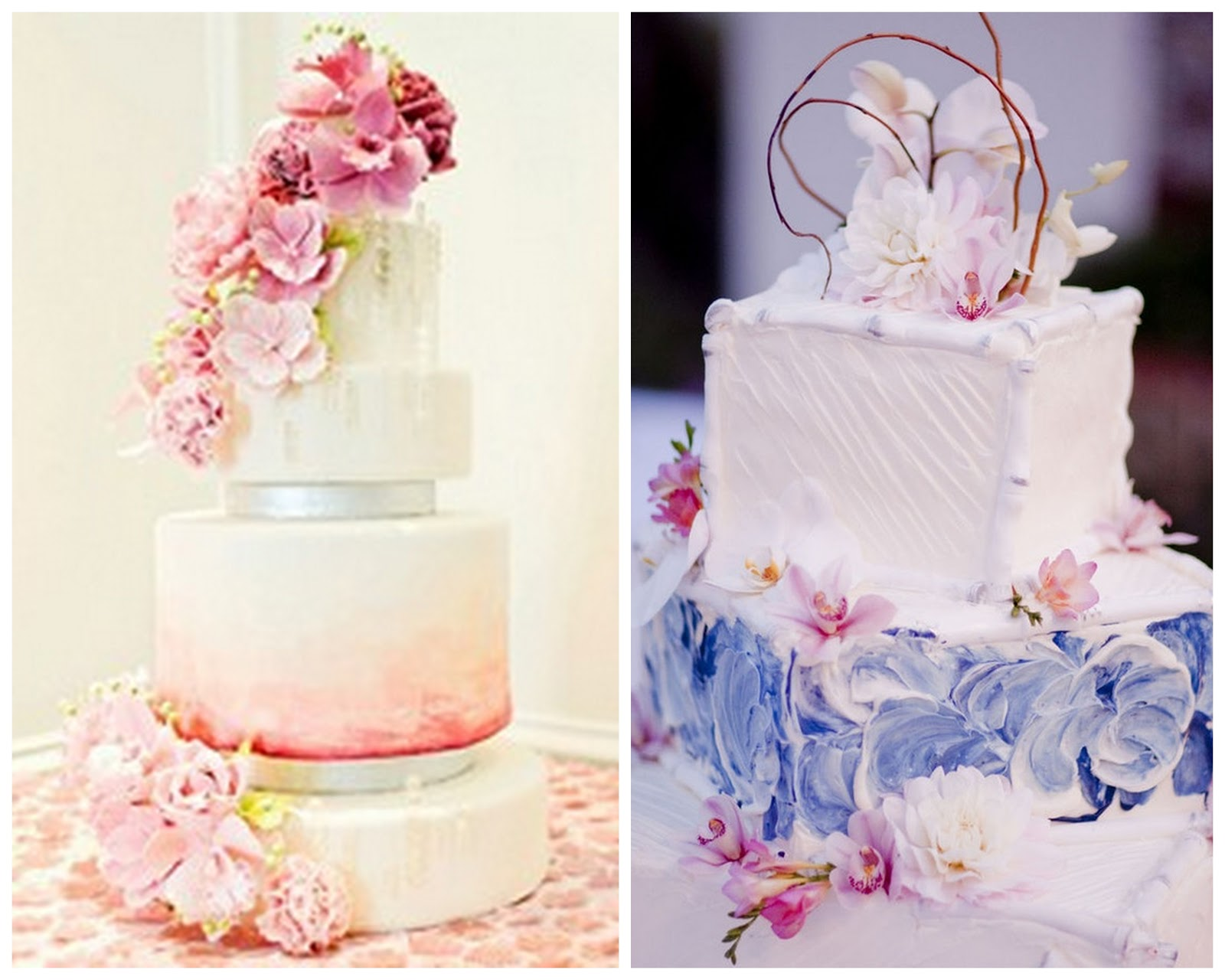 Свадебный торт с акварельной росписью. Рецепты и идеи 69
