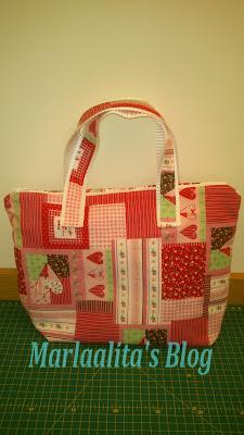 bolso rosa, costura