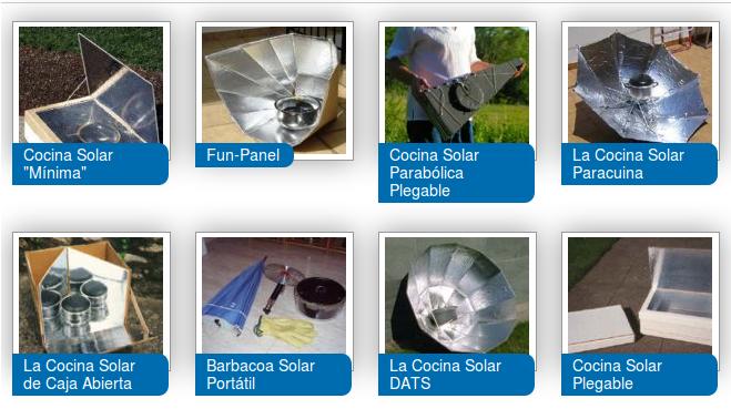 Enredadera aprendiendo cocinas solares for Planos para cocina solar parabolica