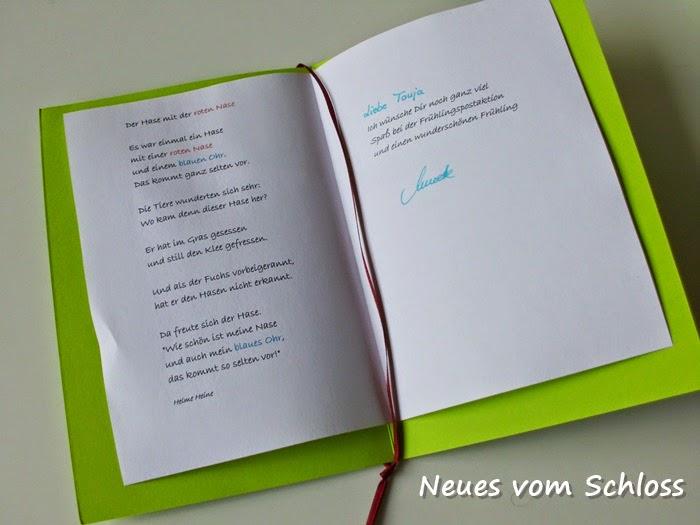 Frühlings- mail- art, neuesvomschloss.blogspot.de