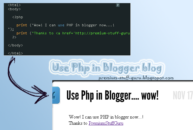 How to use Php in Blogger Detailed Tutorial