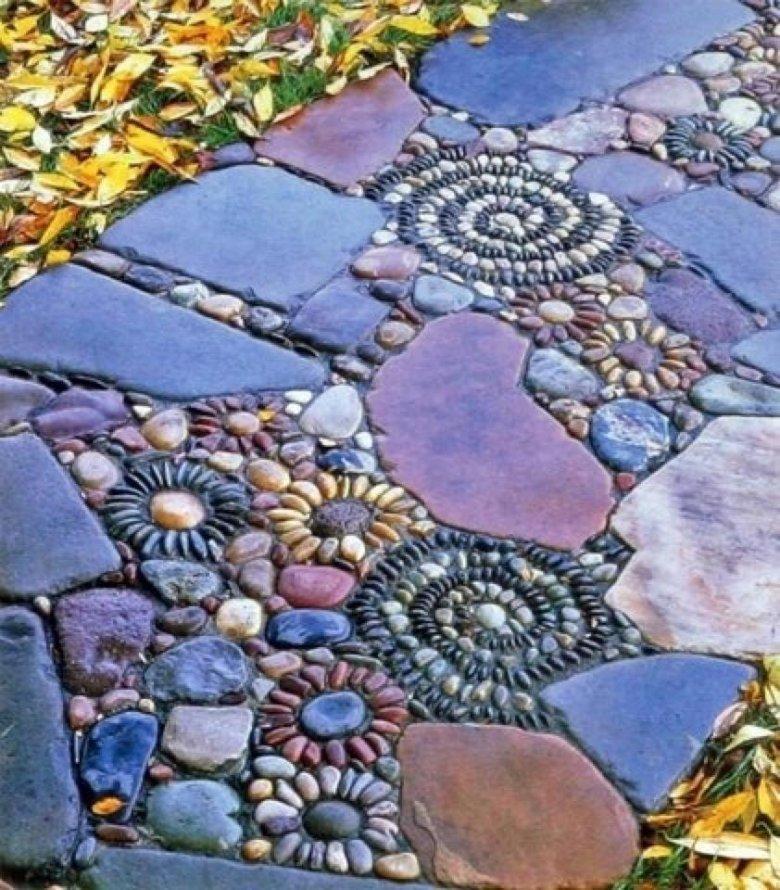 Дорожка из природного камня своими руками фото