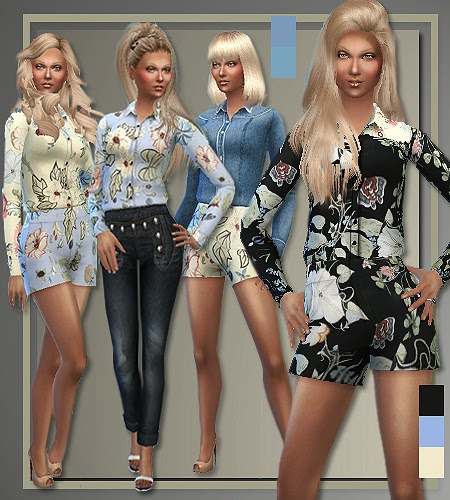 My Sims 4 Blog Gucci Spring 2015 Separates For Teen