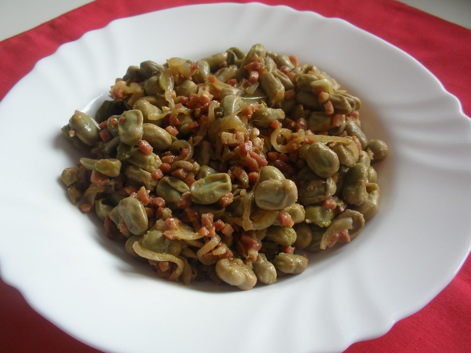 Las recetas de pepejo habas con jam n - Habas tiernas con jamon ...