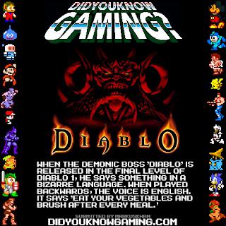 diablo fact Random Game Facts   Diablo, A Dentists Favorite Game