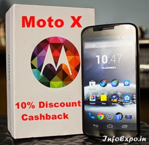 Extra 10% Cash back on Motorola Moto X for Standard Chartered Debit / Credit Cards