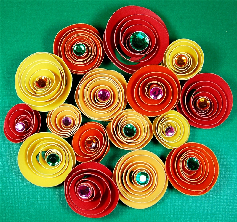 how to make flowers with a spiral die cut