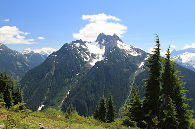 View of Mount Sefrit from the Goat Mountain Trail