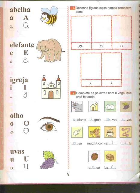 Atividades com Vogais
