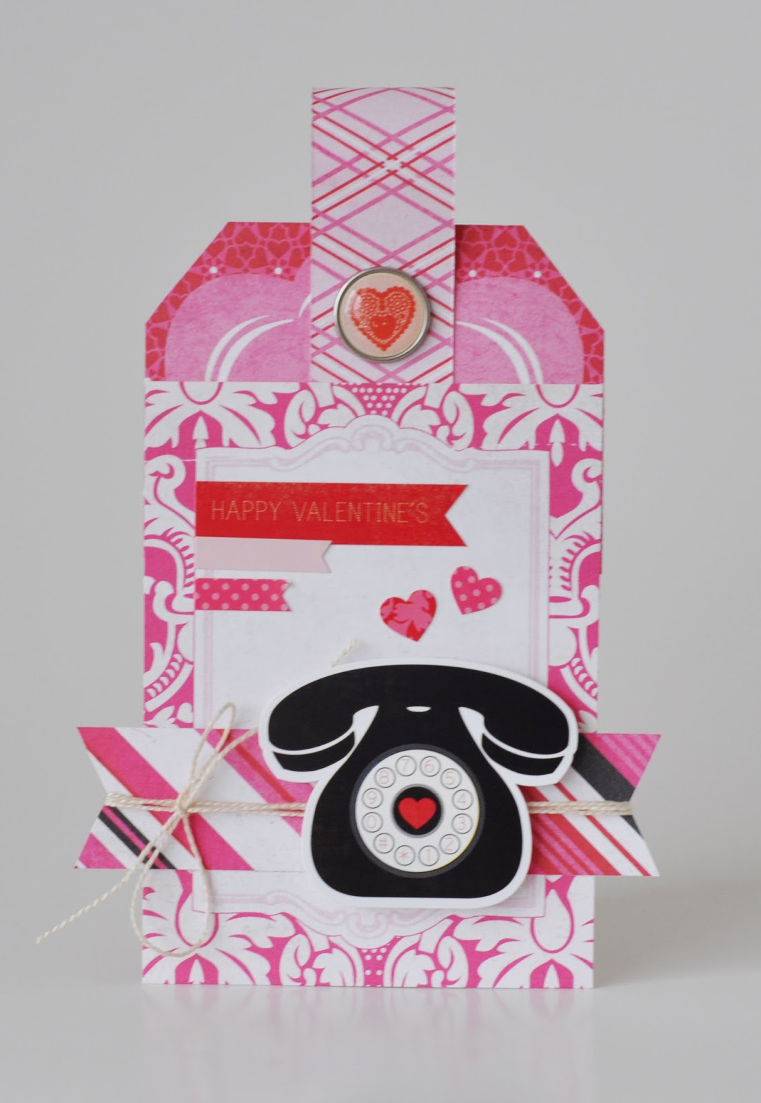 Valentine Card by Jen Gallacher for Echo Park Paper