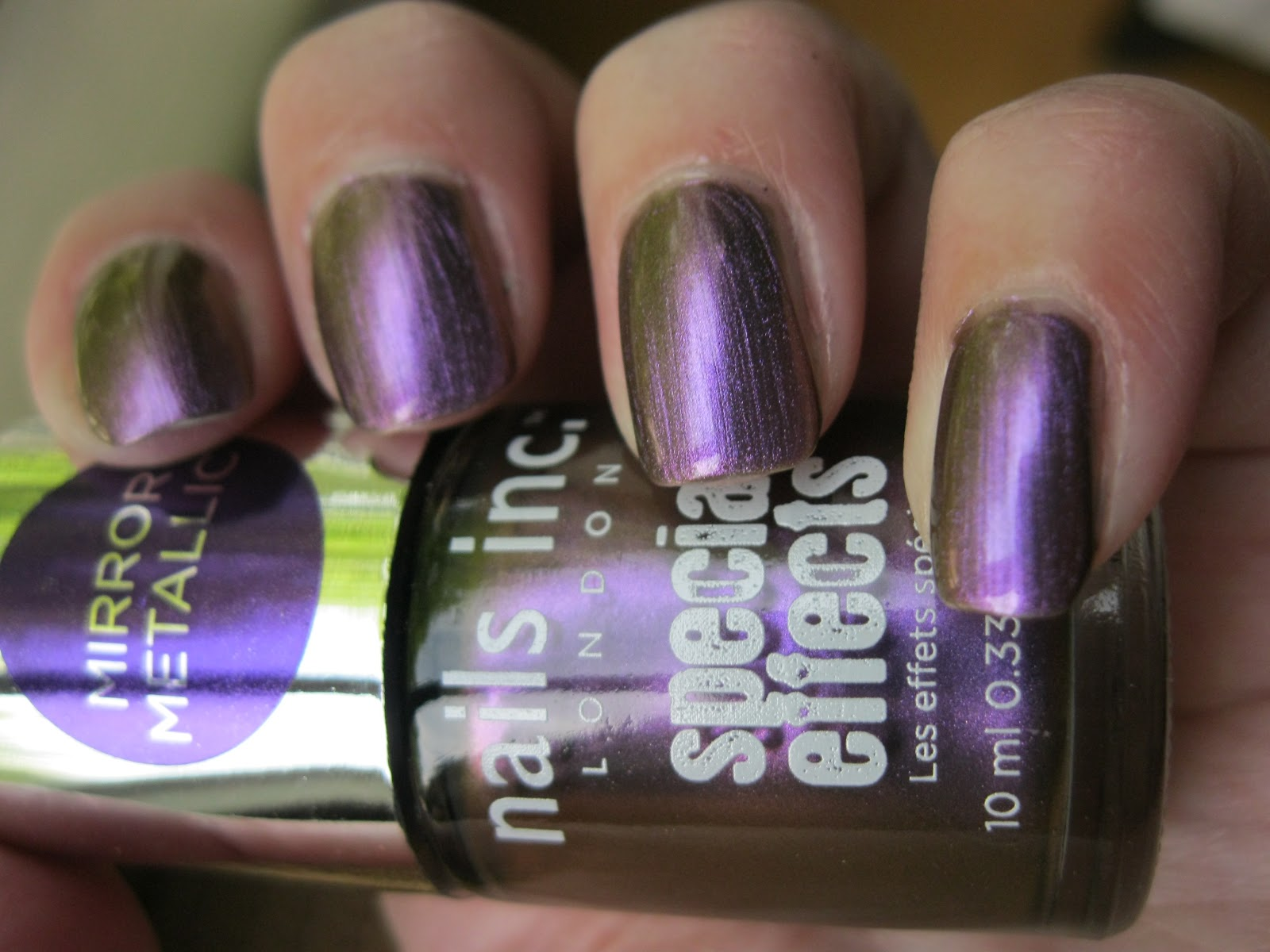 The lacquer tracker nails inc mirror metallic nail polish for Mirror nail polish