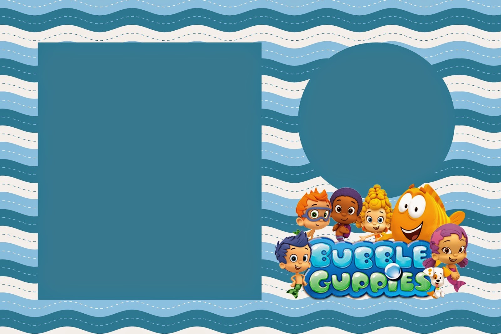 Bubble guppies free printable invitations is it for parties is it free is it cute has - Bubble guppies birthday banner template ...