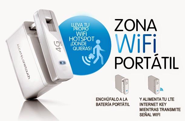 MiFi USB Alcatel Onetouch Link W800 4G
