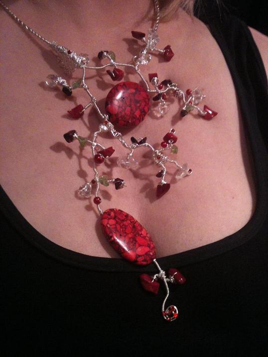 Minib bijoux collane in filo d 39 argento e pietre dure - Collane di design ...