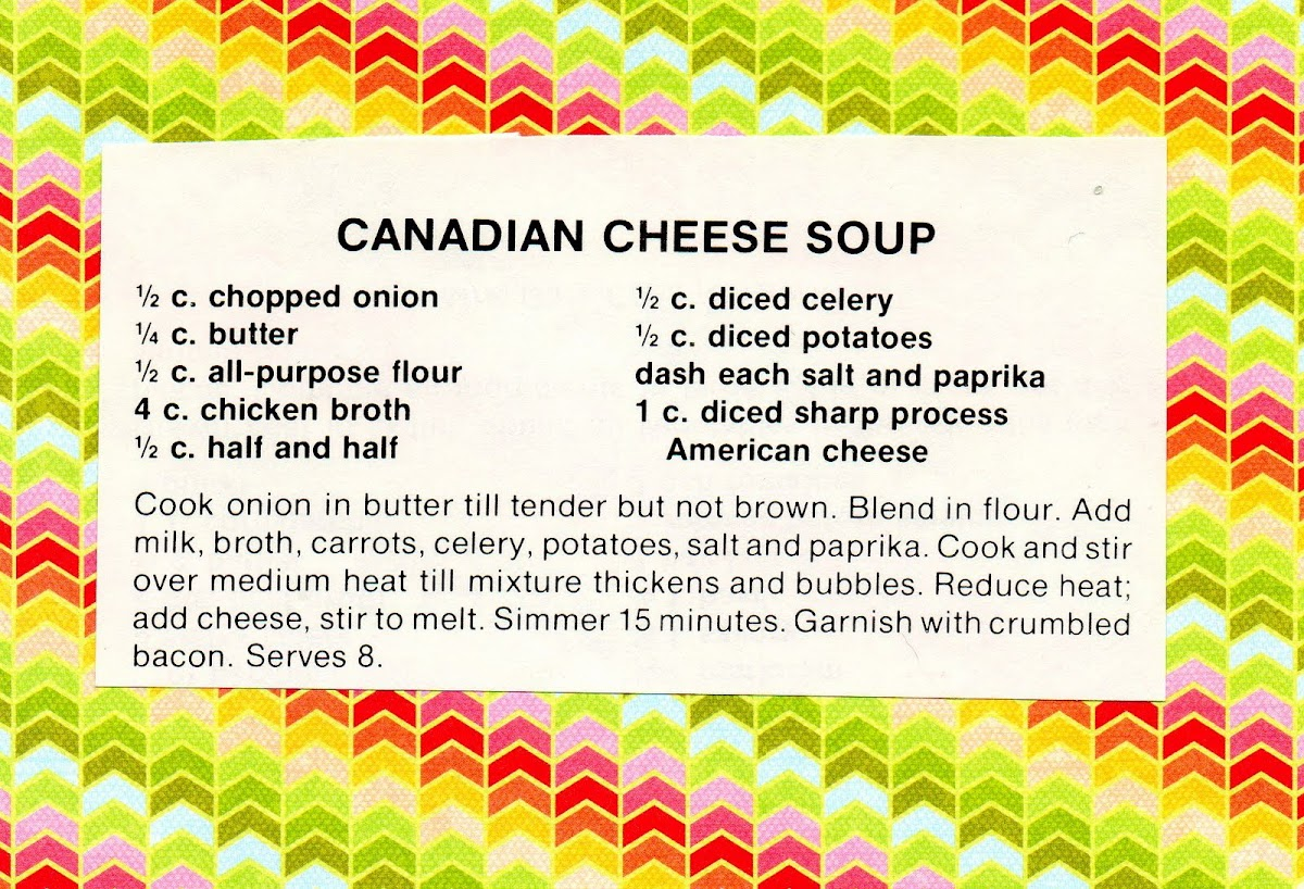 Canadian Cheese Soup (quick recipe)