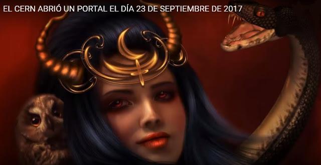EL CERN ABRIÓ UN PORTAL EL 23 SEPTIEMBRE 2017