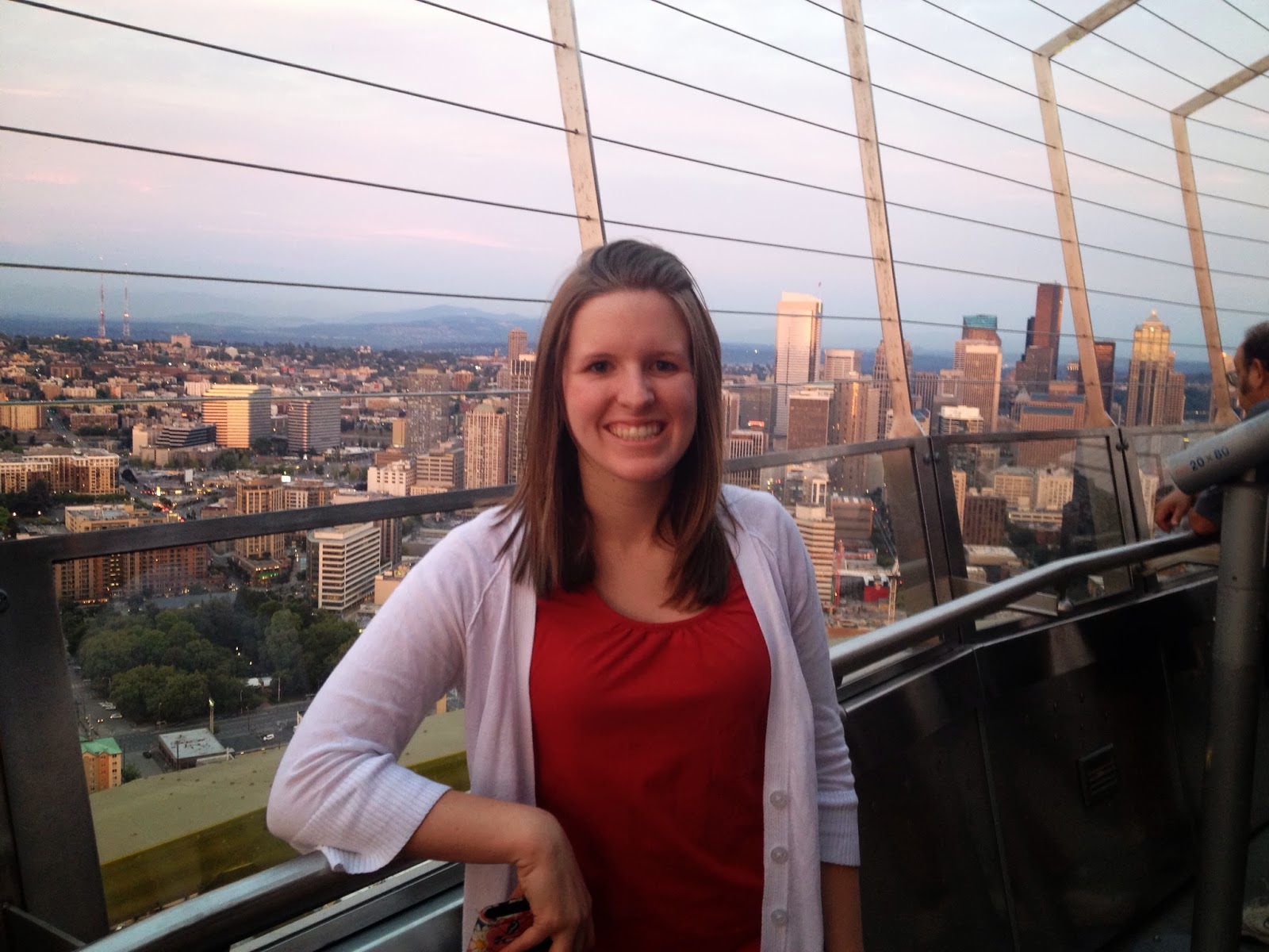 Kara and the view from the Space Needle in Seattle, WA.