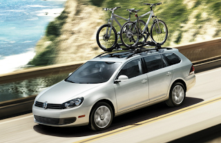 2012 Volkswagen Jetta SportWagen with bike rack
