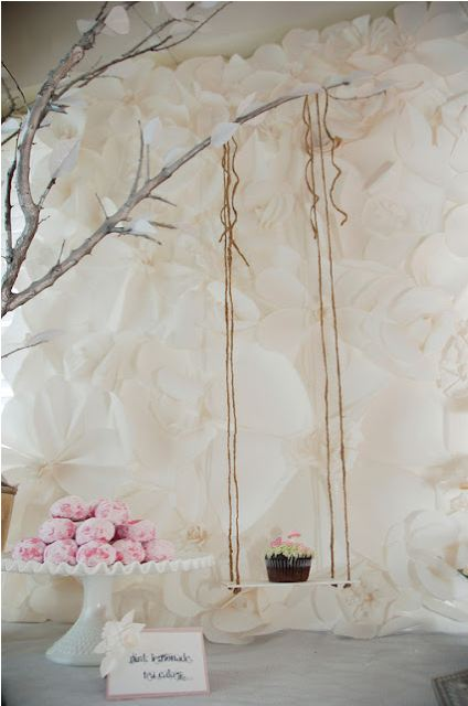 Paper Wedding Easy DIY Paper Backdrops